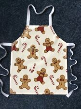 TODDLER'S PVC PLASTIC WIPE CLEAN CRAFT/COOKING APRON GINGERBREAD MAN. XMAS GIFT