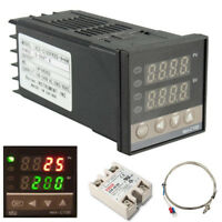 REX-C100 PID Temperature Controller 100-240V + 40A SSR +K Thermocouple 0-1200℃