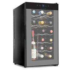 NutriChef 18 Bottle Thermoelectric Red And White Wine Cooler/Chiller Counter .