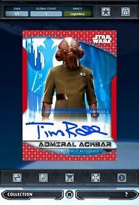 Topps Star Wars Digital Card Trader Chrome Perspectives Red Signature ACKBAR
