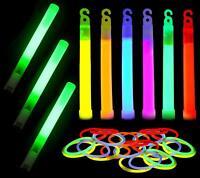 60 Pack Glow Sticks Bulk Ultra Bright Glow Whistle Emergency Kit Multi Color