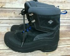 COLUMBIA Mens' Black Blue Winter Boots Size 6