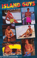LOT OF 2 POSTERS : ISLAND GUYS - SEXY MALE MODELS  - FREE SHIPPING !     LW3 E