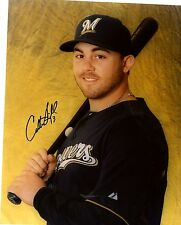CALEB  GINDL    MILWAUKEE  BREWERS  SIGNED AUTOGRAPHED 8X10  PHOTO