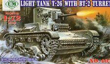 T 26/BT 2-WW II SOVIET inantry SERBATOIO (Leningrado 1942) 1/72 UM RARO