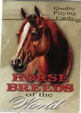 #8827 -- WESTERN HORSE BREEDS OF THE WORLD QUALITY PLAYING CARDS -WOW!