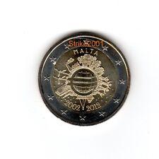 2 EURO COMMEMORATIVO MALTA 2012 10° Anniversario