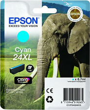 CARTOUCHE EPSON CYAN 24XL / elephant t2432 expression photo xp-750 xp-850 24 xl