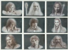 Lord Of The Rings Masterpieces Complete 9 Card Silver Foil Chase Set