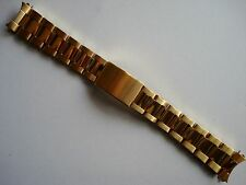 Bracelet For Rolex Old Explorer Watch 19Mm Gold Alloy Plated Golden Oyster Band