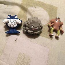 Burger King 1999 Pokemon Toys/Figures (Lot of 3) Graveler Hitmonlee Poliwrath