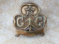 More details for antique brass girl guide association flag pole topper , c1910 - 1917