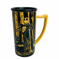 Disney A Nightmare Before Christmas Coffee Mug Tim Burton Yellow Black Tall 18oz