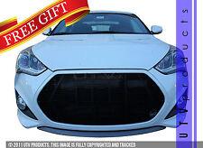 GTG Gloss Black 1PC Billet Grille Insert fits 2013 - 2016 Hyundai Veloster Turbo