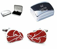 Rib Eye Steak, Butcher Meat + Engraved Chrome Case Personalised (Xmas Christmas)