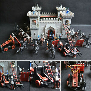27/52/60X Medieval Knights Horses Soldiers Model Playset Kid Toy War Castle Game