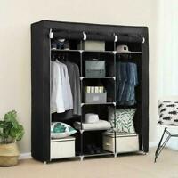 "69"" Portable Closet Wardrobe Clothes Ample Storage Space Organizer Armoire Free"