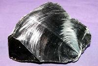 Schwarzer Obsidian Rohstein, Mexico, 646,5g 140x96x53mm Heilstein 黑曜石