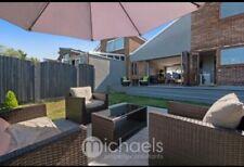 More details for next rattan garden furniture set + day bed - brown