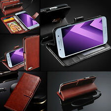 Brown Luxury Real Rich Leather Wallet Case For SAMSUNG GALAXY MODELS + Stylus