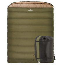 TETON Sports Mammoth 0F Queen-Size Double Sleeping Bag; Warm and Comfortable for