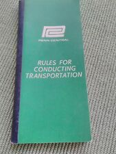 RAILWAY -  RULES FOR CONDUCTING TRANSPORTATION - PENN CENTRAL - 1968