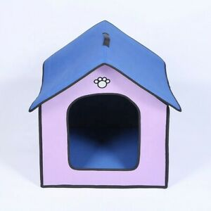 Dog Bed House Shape. Indoor/Outdoor foldable.