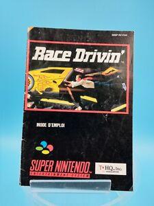 Video Game Manual Be super nintendo Fah Race Drivin