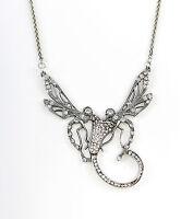 9901123 925er Silber Collier Libellen Swarovski-Steine L42cm