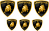 6 Adesivi Stickers Lamborghini Vinile alta qualità decalcomania