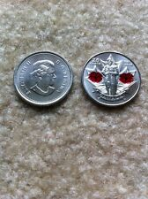 "CANADA, 2010, ""POPPY"" 25 CENTS OF RED COLOR UN-CIRCULATED FRESH CONDITION"