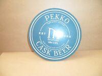 PEKKO CASK BEER   Beer Ale Beer Pump Clip MAN CAVE