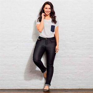AVON Ladies Womens Stretchy Black Comfort Slim Fit Jeans Size 8 10 12 14 20 24