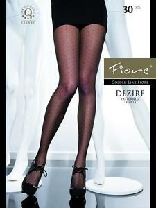 DEZIRE 30 DEN FIORE Highly fashionable patterned tights