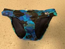 New listing blue gathered sides lined ATHLETA swim suit bikini bottom size  medium