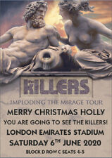 The Killers 2020 Ticket Card Tour Concert Present Birthday Christmas A5