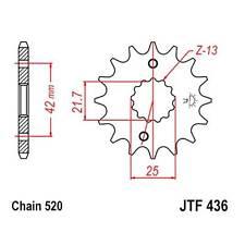 JT Sprockets Ritzel 13Z T: 520 Fein verzahnt Innen: 21.6/25mm Aprilia RS 250 F43