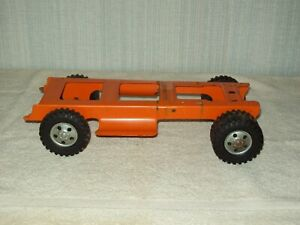 TONKA 1954 1955 1956 1957 1958 ORANGE TRUCK CHASSIS FRAME ASSEMBLY #1