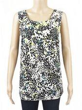 George Ladies Animal Print Sleeveless Chiffon Casual Summer Vest Top Size 10- 22