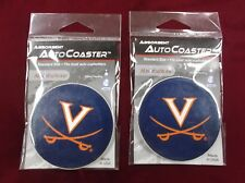 New Stone University of Virginia Cavaliers Car Coasters Lot 2x x2 2.5""