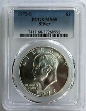 1972-S Silver Eisenhower Dollar Ike MS-68 PCGS   Please READ