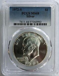 1972-S Silver Eisenhower Dollar Ike   PCGS MS-68   Please READ
