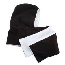 Reversible Hooded Scarf, Black|White