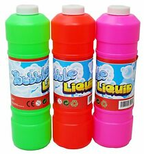 Pre Mixed Bubble Liquid Solution Refill for Bubble Guns - Machine 1L