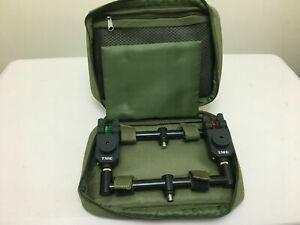 TMC Buzz Bar / Buzzer Bar Bag / case. 2 rod, padded, olive, Carp, Coarse Fishing