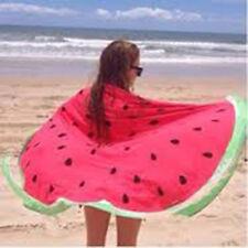 Round Indian Watermelon Tassel Beach Towel Summer Sunbath Blanket Picnic Mat