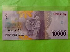 Indonesia 10000 Rupiah 1st Replacement 2016 (UNC) XAA 034179