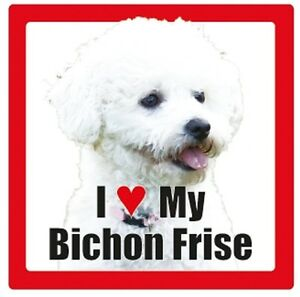 I Love My *...... Dog Ceramic Photographic Square Coaster  *Dog breeds