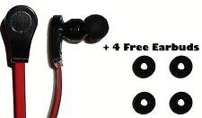 Auriculares Audífonos en Oído Rojo Negro para iPhone Samsung HTC LG cualquier con 3.5 mm