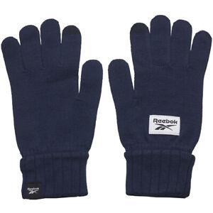 Reebok Men Active Gloves Foundation Knit Sporty Athletic GH0476 Sportstyle Blue